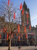 Municipio Regno Unito di Newyear Manchester di cinese Fotografia Stock
