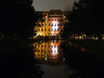 Municipio rosso in Szczecin Fotografie Stock