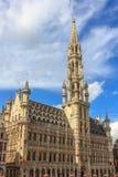 Municipio sul grande posto quadrato, Belgio, Unione Europea di Bruxelles Fotografia Stock