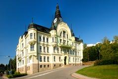Municipio in Tanvald Fotografia Stock Libera da Diritti