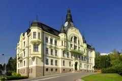 Municipio in Tanvald Fotografia Stock