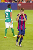 Munir celebrating a goal Stock Photos