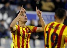 Munir El Haddadi of FC Barcelona B Stock Photo