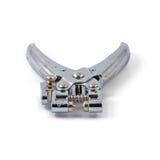 Munisca di occhielli la pinza per perforazione e gli occhielli isolati su fondo bianco immagine stock