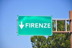 Munisca di segnaletica per le indicazioni per la strada principale di stato italiana immagini stock