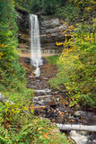 Munising Falls at Pictured Rocks Stock Photography