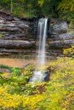 Munising nedgångar och Autumn Leaves Royaltyfria Bilder