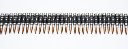 Munitie-riemhoogtepunt van kogels royalty-vrije stock afbeelding