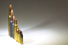 Munition Blurr-Rückseite Stockfotografie