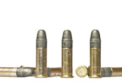 Munition cal.22 Lizenzfreie Stockbilder