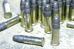 Munition cal 22 Stockfotos