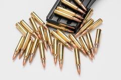 Munition in der Zeitschrift 223/556 lizenzfreies stockfoto