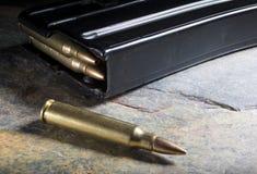 Munition und Zeitschrift Lizenzfreies Stockbild