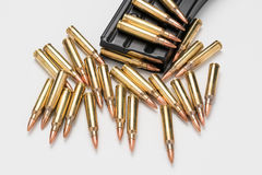 Munitions en magazine 223/556 Photo libre de droits