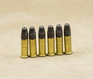 Munitions Rimfire de long fusil Photos libres de droits