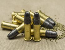 Munitions Rimfire de long fusil Photo libre de droits