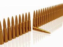 Munitionsreihe der Kugeln 9mm Lizenzfreie Stockbilder