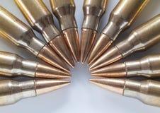 Munizioni con le pallottole d'acciaio del centro Fotografia Stock Libera da Diritti