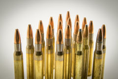 Munizioni per il fucile Fotografia Stock