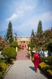 Munk av den Gyuto kloster, Dharamshala, Indien royaltyfri bild