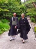 Munk av den Toshodaiji templet Arkivfoton