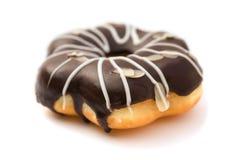 Munk för anstrykning för choklad för sidosikt på vit arkivfoto