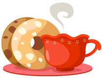 munk för kaffekopp vektor illustrationer