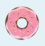 Munk med rosa kräm Arkivfoton