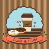 Munk och kaffe Royaltyfri Bild