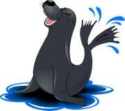 Munk Seal royaltyfri illustrationer