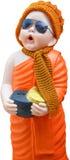 Munk Statue i Wat rakhang Royaltyfri Fotografi