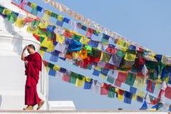 Munk Tibet Arkivbild