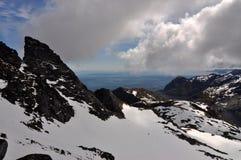 从Munkan, Lofoten海岛,挪威的看法 免版税库存图片