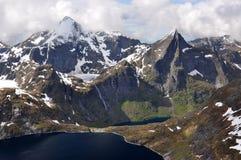 从Munkan, Lofoten海岛,挪威的看法 图库摄影