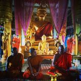 Munkar i Siem Reap arkivbild
