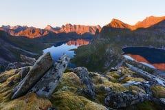 Munkebu-Berg in Lofoten, Norwegen Stockbild