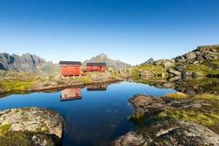 Munkebu-Berg Lofoten, Norwegen Lizenzfreie Stockfotos