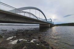 Munkholmbroen bro i Sealand, Danmark, Skandinavien p? sommartid fotografering för bildbyråer