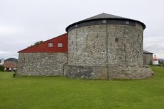 Munkholmen island fortress and prison exterior in Trondheim, Norway. Royalty Free Stock Photo