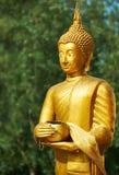 Munkstaty i den Wat Sri Sunthon templet Arkivfoto