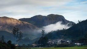 Munnar小山驻地在喀拉拉印度 库存图片