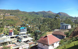 Munnar, Kerala, India. Picturesque view of Munnar town in Kerala, India Royalty Free Stock Photos
