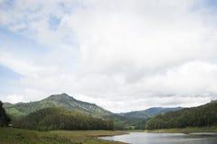 Munnar Kundala水坝风景 库存图片