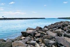 Munnen av den Brunswick floden, Australien Arkivfoton