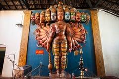 Munneswaram temple, Sri Lanka. CHILAW, SRI LANKA - FEBRUARY 09, 2017: Munneswaram temple is an important regional Hindu temple complex in Sri Lanka stock images