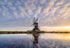 Munnikenmolen. The windmill of the Munnikenpolder near Leiderdorp the Netherlands in a winters mood Royalty Free Stock Photos