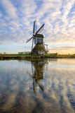 Munnikenmolen. The windmill of the Munnikenpolder near Leiderdorp the Netherlands in a winters mood Royalty Free Stock Photo