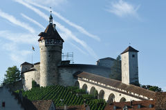 The Munot. Medieval fortification in Schaffaussen, Switzerland Stock Photography