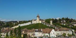 Munotvesting in Zwitserland royalty-vrije stock afbeeldingen