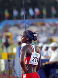 Munoz de Cuba das mulheres do throw de Javelin Fotografia de Stock